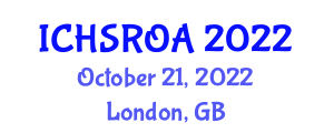International Conference on Household Service Robotics and Obstacle Avoidance (ICHSROA) October 21, 2022 - London, United Kingdom