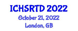 International Conference on Household Service Robotics and Target Detection (ICHSRTD) October 21, 2022 - London, United Kingdom