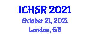 International Conference on Household Service Robotics (ICHSR) October 21, 2021 - London, United Kingdom