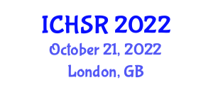 International Conference on Household Service Robotics (ICHSR) October 21, 2022 - London, United Kingdom