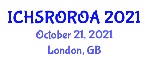 International Conference on Household Service Robotics, Object Recognition and Obstacle Avoidance (ICHSROROA) October 21, 2021 - London, United Kingdom
