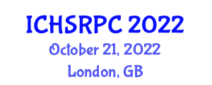 International Conference on Household Service Robotics, Planning and Control (ICHSRPC) October 21, 2022 - London, United Kingdom