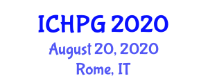 International Conference on Human and Physical Geography (ICHPG) August 20, 2020 - Rome, Italy