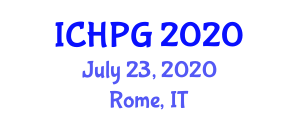 International Conference on Human and Physical Geography (ICHPG) July 23, 2020 - Rome, Italy
