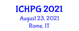 International Conference on Human and Physical Geography (ICHPG) August 23, 2021 - Rome, Italy