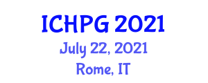 International Conference on Human and Physical Geography (ICHPG) July 22, 2021 - Rome, Italy
