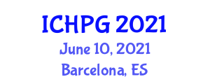International Conference on Human and Physical Geography (ICHPG) June 10, 2021 - Barcelona, Spain