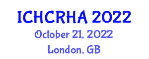 International Conference on Human-Centered Robotics and Human Augmentation (ICHCRHA) October 21, 2022 - London, United Kingdom