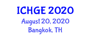 International Conference on Human Geography and Environments (ICHGE) August 20, 2020 - Bangkok, Thailand