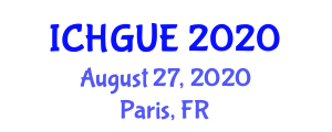 International Conference on Human Geography and Urban Environments (ICHGUE) August 27, 2020 - Paris, France
