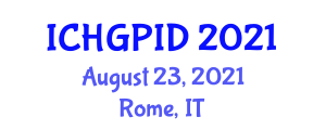 International Conference on Human Geography, Planning and International Development (ICHGPID) August 23, 2021 - Rome, Italy
