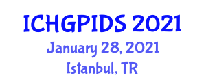 International Conference on Human Geography, Planning and International Development Studies (ICHGPIDS) January 28, 2021 - Istanbul, Turkey
