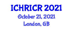International Conference on Human-Robot Interaction and Cognitive Robotics (ICHRICR) October 21, 2021 - London, United Kingdom