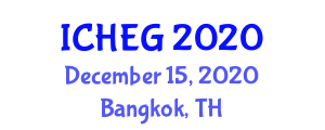 International Conference on Humanities, Economics and Geography (ICHEG) December 15, 2020 - Bangkok, Thailand