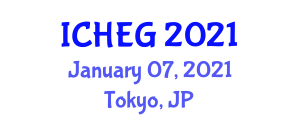International Conference on Humanities, Economics and Geography (ICHEG) January 07, 2021 - Tokyo, Japan
