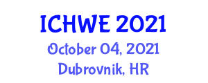 International Conference on Hydroinformatics and Water Engineering (ICHWE) October 04, 2021 - Dubrovnik, Croatia