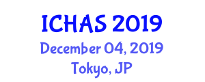 International Conference on Hydrological Applications and Services (ICHAS) December 04, 2019 - Tokyo, Japan