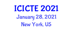 International Conference on ICTs for Ecology (ICICTE) January 28, 2021 - New York, United States