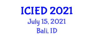 International Conference on Image Encryption and Decryption (ICIED) July 15, 2021 - Bali, Indonesia