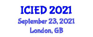 International Conference on Image Encryption and Decryption (ICIED) September 23, 2021 - London, United Kingdom