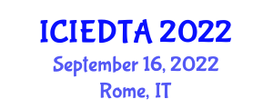 International Conference on Image Encryption and Decryption Techniques and Algorithms (ICIEDTA) September 16, 2022 - Rome, Italy