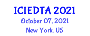 International Conference on Image Encryption and Decryption Technologies and Algorithms (ICIEDTA) October 07, 2021 - New York, United States