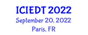 International Conference on Image Encryption and Decryption Technologies (ICIEDT) September 20, 2022 - Paris, France