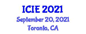 International Conference on Image Encryption (ICIE) September 20, 2021 - Toronto, Canada