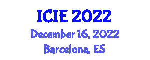 International Conference on Image Encryption (ICIE) December 16, 2022 - Barcelona, Spain