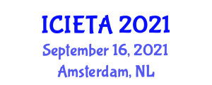 International Conference on Image Encryption Techniques and Algorithms (ICIETA) September 16, 2021 - Amsterdam, Netherlands