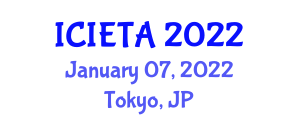 International Conference on Image Encryption Techniques and Algorithms (ICIETA) January 07, 2022 - Tokyo, Japan