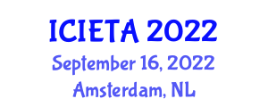International Conference on Image Encryption Techniques and Algorithms (ICIETA) September 16, 2022 - Amsterdam, Netherlands