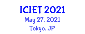 International Conference on Image Encryption Techniques (ICIET) May 27, 2021 - Tokyo, Japan