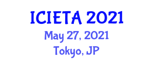 International Conference on Image Encryption Technologies and Algorithms (ICIETA) May 27, 2021 - Tokyo, Japan