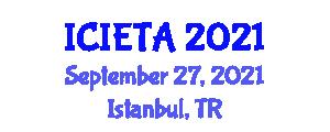 International Conference on Image Encryption Technologies and Algorithms (ICIETA) September 27, 2021 - Istanbul, Turkey