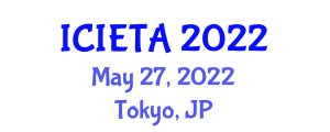 International Conference on Image Encryption Technologies and Algorithms (ICIETA) May 27, 2022 - Tokyo, Japan