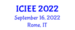 International Conference on Industrial Electrical Engineering (ICIEE) September 16, 2022 - Rome, Italy