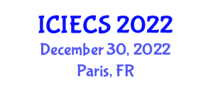 International Conference on Industrial Engineering and Computer Security (ICIECS) December 30, 2022 - Paris, France