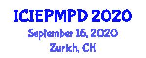International Conference on Industrial Engineering, Project Management, Planning and Design (ICIEPMPD) September 16, 2020 - Zurich, Switzerland