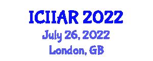 International Conference on Industrial Informatics, Automation and Robotics (ICIIAR) July 26, 2022 - London, United Kingdom