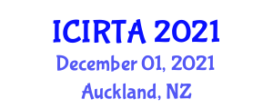 International Conference on Industrial Robot Technology and Applications (ICIRTA) December 01, 2021 - Auckland, New Zealand
