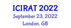 International Conference on Industrial Robotics and Automation Technologies (ICIRAT) September 23, 2022 - London, United Kingdom