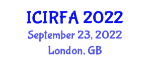 International Conference on Industrial Robotics and Flexible Assembly (ICIRFA) September 23, 2022 - London, United Kingdom