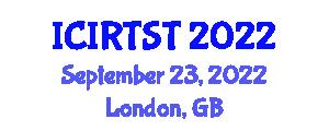 International Conference on Industrial Robotics and Sensor Technology (ICIRTST) September 23, 2022 - London, United Kingdom