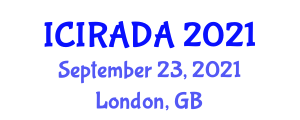 International Conference on Industrial Robotics, Application Design and Analysis (ICIRADA) September 23, 2021 - London, United Kingdom