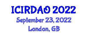International Conference on Industrial Robotics, Design, Analysis and Operation (ICIRDAO) September 23, 2022 - London, United Kingdom