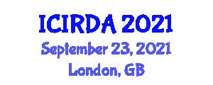 International Conference on Industrial Robotics, Design and Analysis (ICIRDA) September 23, 2021 - London, United Kingdom