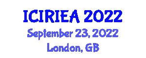 International Conference on Industrial Robotics, Industrial Engineering and Analysis (ICIRIEA) September 23, 2022 - London, United Kingdom