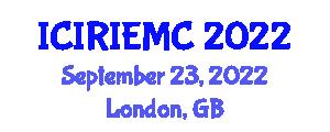 International Conference on Industrial Robotics, Industrial Engineering, Modelling and Control (ICIRIEMC) September 23, 2022 - London, United Kingdom