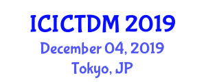 International Conference on Information and Communication Technologies for Disaster Management (ICICTDM) December 04, 2019 - Tokyo, Japan